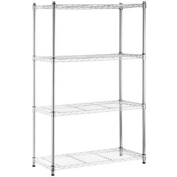 JIAMEI 3 Tiers Commercial Kitchen Stainless Steel Work Table Wire Shelf Rack with Bamboo Top
